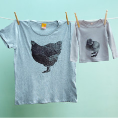Mother hen & chick t-shirt twinset set for mums and kids