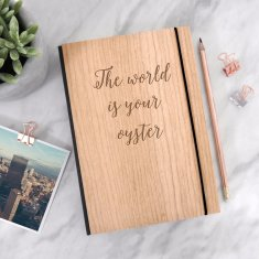 Personalised Wooden Travel Quote Journal
