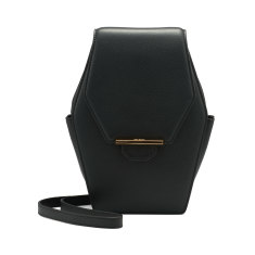 Rue diamond shoulder bag (ebony)