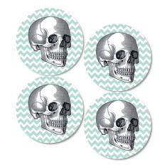 Vintage Skull Coasters (Set of 4)