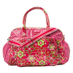 Laminated cotton nappy bag in Zoe/Beatrice print