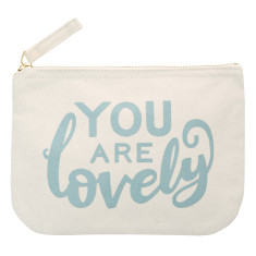 You Are Lovely Little Canvas Pouch