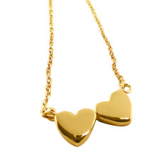 Twin Heart Necklace (Various Colours)