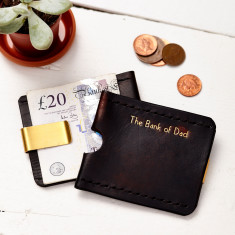 Personalised wallet with money clip