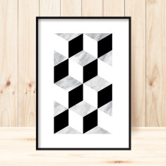 Marble squared 1 art print (various sizes)