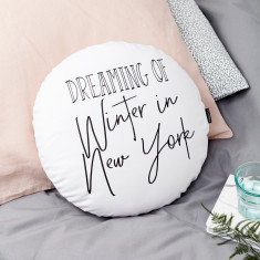 Personalised Dreaming Of Round Cushion