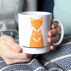 Fox Mummy/Daddy And Me, Personalised Mug