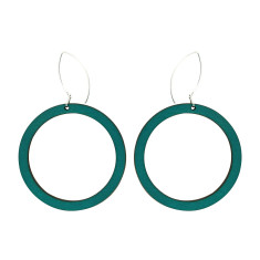 Hoop earrings in green