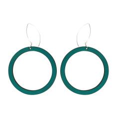 Hoop earrings in green