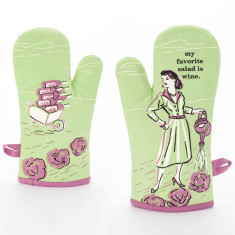My Favourite Salad Is Red Wine Oven Mitt by Blue Q