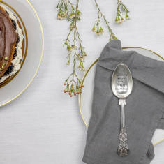 Personalised Vintage Silver Plated Dessert Spoon