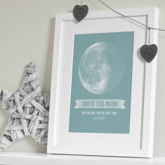 Personalised Under This Moon Print