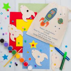 Personalised Make Your Own Space Rocket Bunting