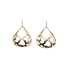 Extra wide large teardrop earrings (gold)