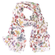 Butterfly Pure Cotton Digital Print Scarf (various colours)
