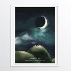 Customised Date & Location Moon Phase illustration