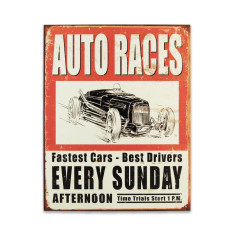 Auto Races Sign