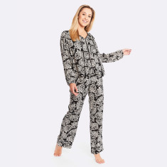 Mondrian Pj Set  Black / Cream