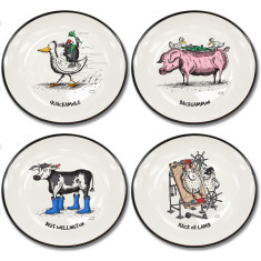 Moveable feast collection canapé plates (set of 4)