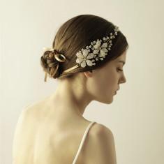 Handmade Bridal Flower Hair Crown Headpiece