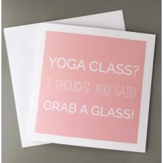 Yoga Greetings Card