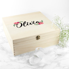 Personalised Floral Bridesmaid Box