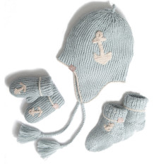 Blue Alpaca Baby Boy Gift Set