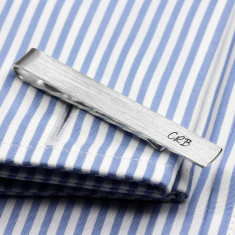 Sterling silver Tie Clip monogrammed