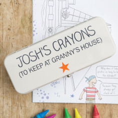 Personalised Crayon Tin