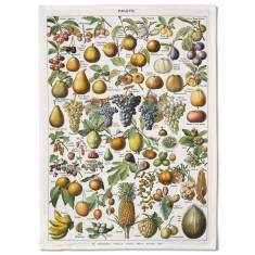 French Fruits Tea Towel