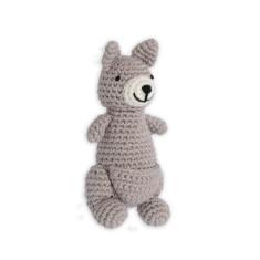 Weegoamigo Crochet Rattle - Kind Kangaroo
