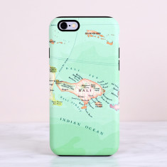 Bali map iPhone Samsung Phone Case