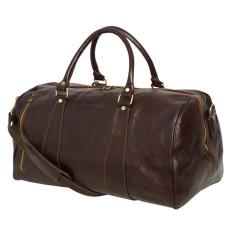 Nardi leather weekender bag in chocolate