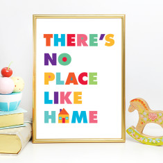 No place like home nursery art print (various sizes)
