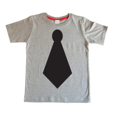 Kids' chalkboard t-shirt in tie design