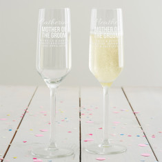 Personalised Mother Of The Groom Champagne Flute