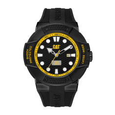 CAT Shockmaster series Watch in Gun Metal Steel with black/yellow face plus FREE GIFT