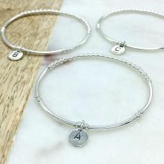 Sterling silver letter bracelet