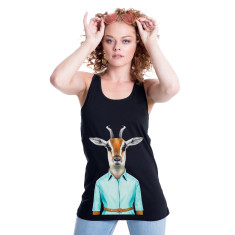 Gazelle women's fitted singlet