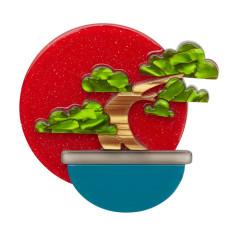 Erstwilder breathtaking bonsai brooch