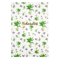 Tropical Palms gold foiled notebook