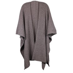 Cable knit lambswool cape (various colours)