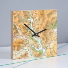 Personalised map location square clock