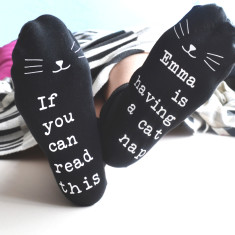 Personalised Cat Nap Socks