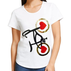 Women's wheel love never tyres t-shirt