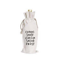 Cheers canvas wine bag