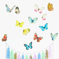 Watercolour Butterflies Wall Stickers