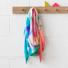 Peppy silk scarf