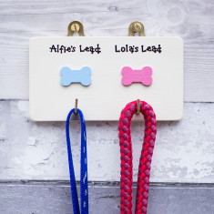 Personalised Two Hook Dog Lead Plaque