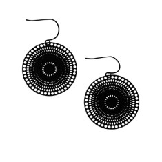 Hypnotic earring in black